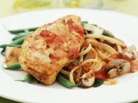String Bean and Chicken Stew with Pasta recipe