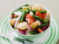 String Bean and Potato Bowls recipe
