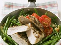 String Bean Saute with Chicken recipe