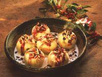 Stuffed Baked Apples with Vanilla Sauce recipe