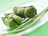 Banana Leaf Rice Wraps recipe