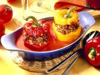 Stuffed Bell Peppers with Tomato Sauce