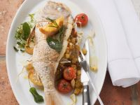 Stuffed Bream with Tomatoes and White Bread recipe