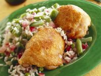 Stuffed Chicken Breast with Vegetable Rice