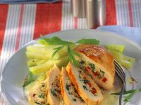 Stuffed Chicken Breasts with Tarragon Sauce recipe