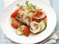 Stuffed Chicken with Vegetables recipe