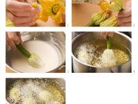 Stuffed Courgette Flowers recipe