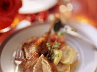 Stuffed Duck with Apples and Dumplings recipe