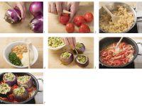 Stuffed Eggplants with Tomato Sauce recipe