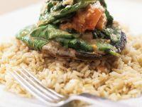 Stuffed Mushrooms and Brown Rice recipe