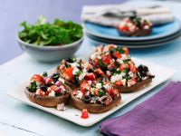 Stuffed Mushrooms with Tomatoes, Olives and Feta recipe