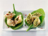 Stuffed Pasta Shells with Tuna and Pesto recipe