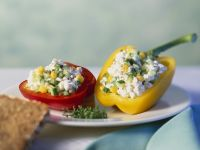 Stuffed Peppers with Cottage Cheese and Vegetables recipe
