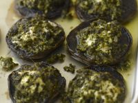 Stuffed Pesto Mushrooms recipe