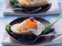 Stuffed Potatoes with Trout Roe recipe