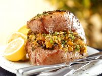 Stuffed Pork Chops with Lemon recipe