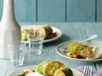 Stuffed Savoy Rolls with Cauliflower Puree recipe