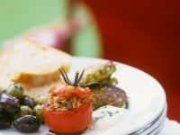 Stuffed Tomatoes and Zucchini Fritters recipe