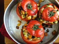 Stuffed Tomatoes with Vegetable Filling recipe