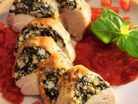 Stuffed Turkey Breast with Tomato Sauce recipe