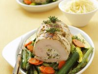 Stuffed Turkey Breast with Veg Medley recipe