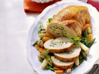 Stuffed Turkey Roll with Vegetables recipe