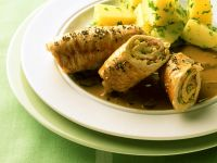 Stuffed Turkey Rolls with Parsley Potatoes recipe