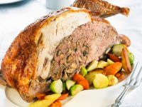 Stuffed Turkey with Vegetables recipe