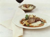Stuffed Veal with Mashed Potatoes and Porcini Mushrooms recipe