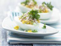 Stuffed Wasabi Eggs recipe
