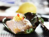 Sturgeon Wrapped in Banana Leaves recipe