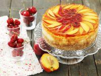 Sugar-free Nectarine and Cherry Cheesecake recipe