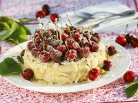Sugared Cherry Sponge Cake recipe