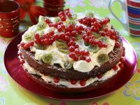 Summer Cake with Red Currants and Gooseberries