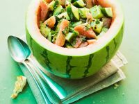 Summer Salad with Cucumber and Melon
