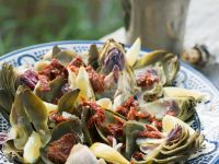 Summery Artichokes with Olive Oil Sauce recipe