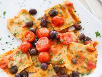 Sun-dried Tomato and Ricotta Ravioli with Fresh Tomato Sauce recipe