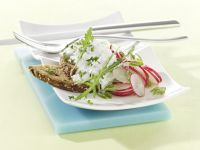 Sunflower Seed Bread with Herbed Quark and Radish Salad recipe