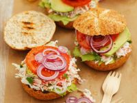 Surimi Burger with Avocado recipe