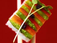 Sushi with Peppers and Asparagus recipe