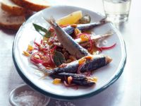 Sweet and Sour Marinated Sardines with Red Onions recipe