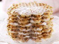 Sweet Buttermilk Waffles with Powdered Sugar recipe