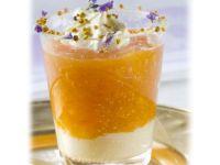 Sweet Cream with Persimmon Sauce recipe