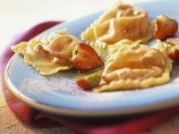 Sweet Dumplings Filled with Strawberries recipe