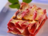 Sweet Lasagna with Plums recipe