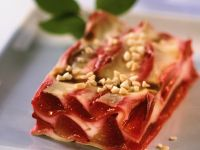 Sweet Lasagne with Plums recipe