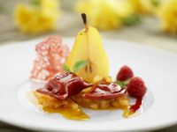 Sweet Pear and Saffron Dessert recipe