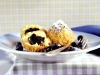 Sweet Poppy Seed Dumplings with Blueberries recipe