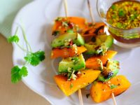 Asian Pumpkin and Avocado Kebabs recipe
