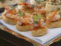 Sweet Potato Cakes with Spicy Shrimp recipe